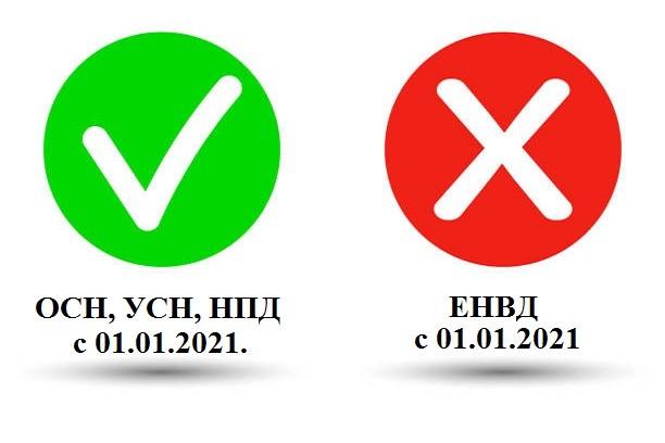 Отмена ЕНВД с 01.01.2021